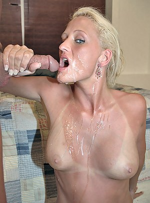 Hot Cum on MILF Tits Porn Pictures